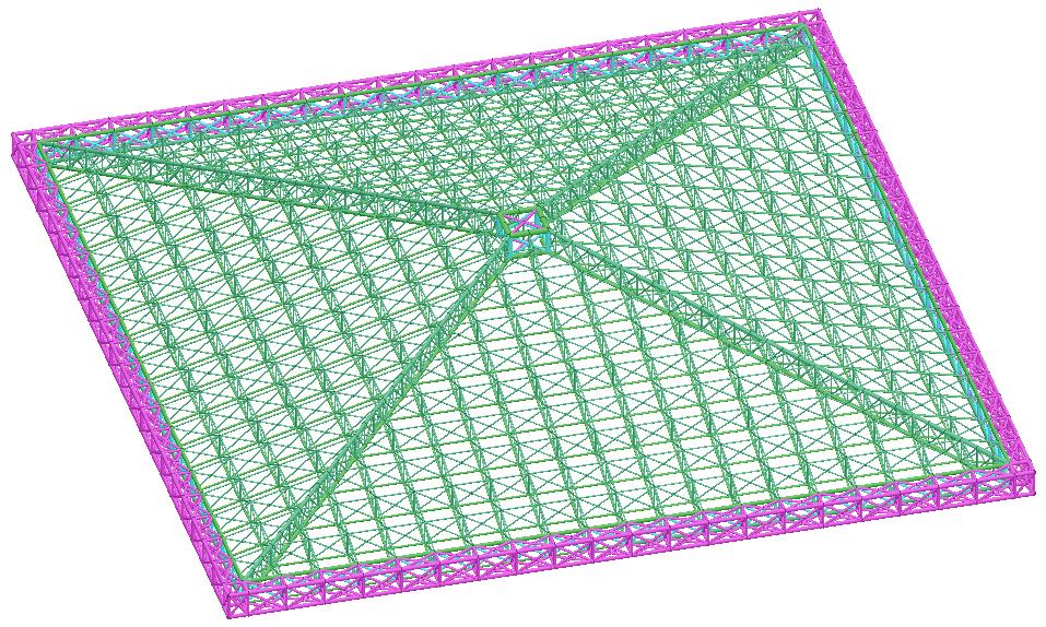 空间桁架结构