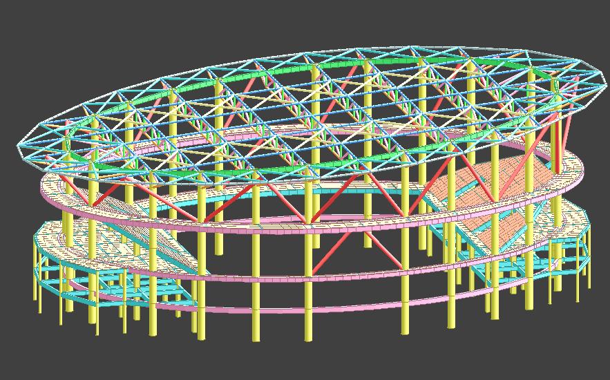 混合结构体育馆