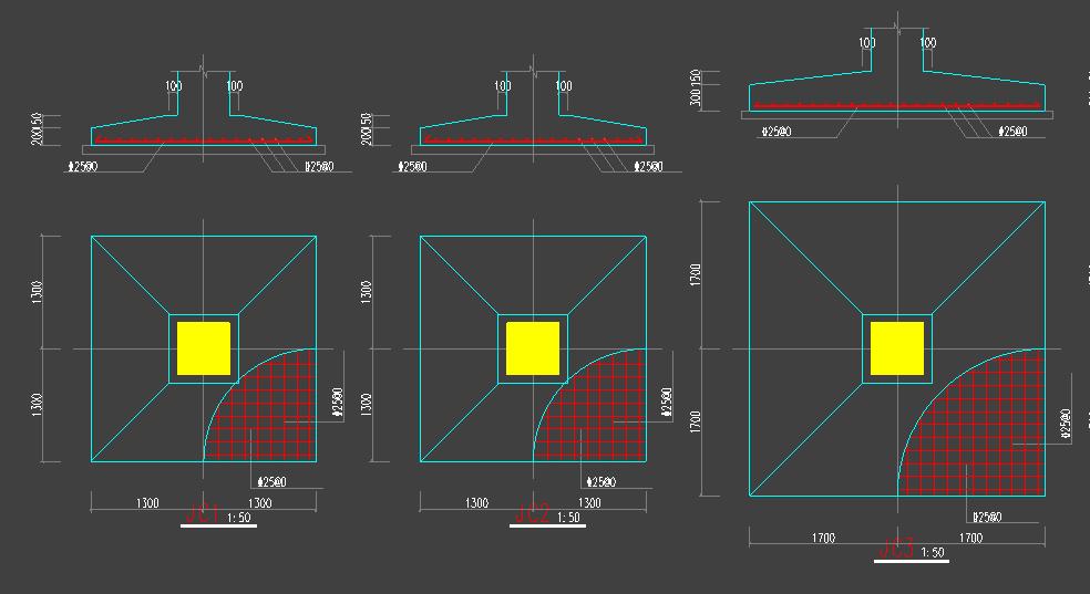 基础协同设计  地基反力 圆管空心板大板配筋施工图.